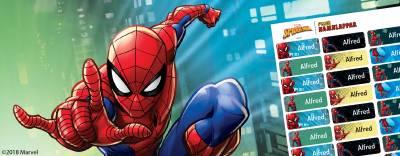 Spider-Man namnlappar