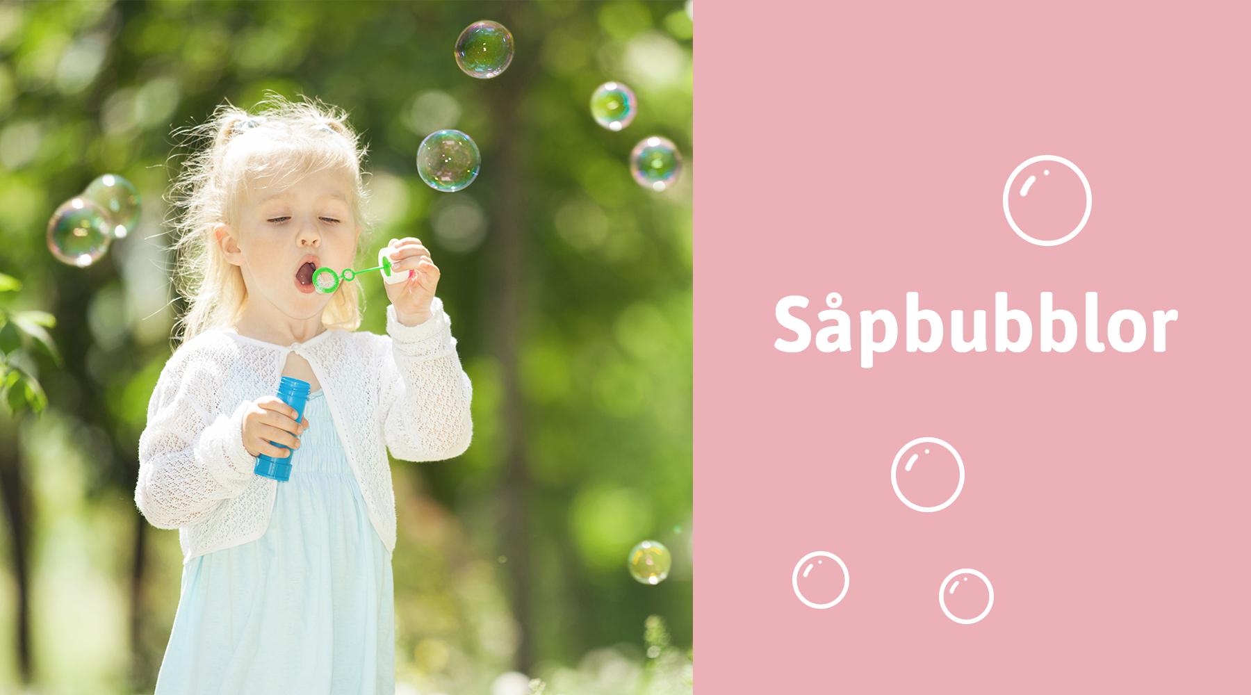 Såpbubblor - Hobby med barn