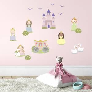 Väggdekor: Prinsessor