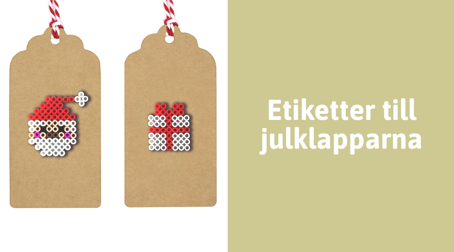 Personliga etiketter till julklapparna