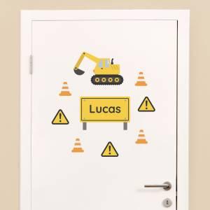 Dörrdekor: Anläggningsmaskiner