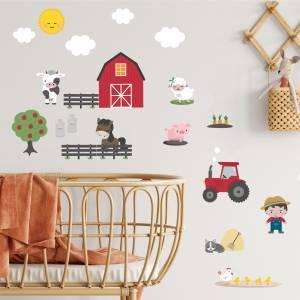 Dekorera väggarna med söta gårdsdjur