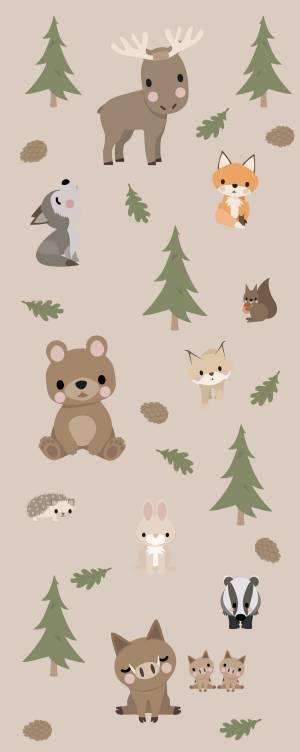 Väggdekor: Skogsdjur