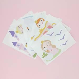 Väggdekor prinsessor