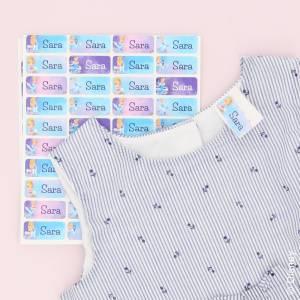 Askungen namnlappar till kläder