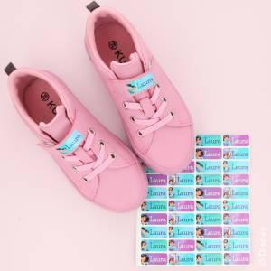 Jasmin namnlappar till skor