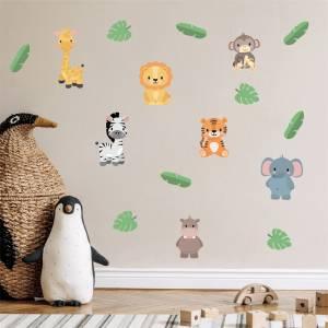 Wallstickers exotiska djur - magiska barnrum