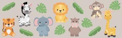 Väggdekor: Exotiska djur